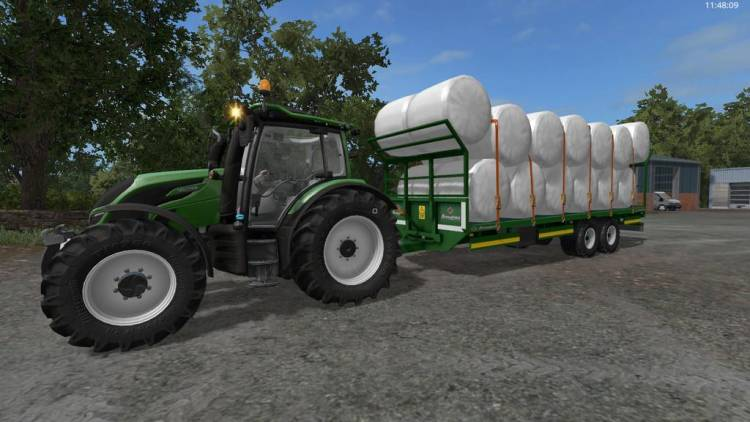 Broughan 28 Foot Bale Trailer | Farming simulator 2017 / 2019 mods