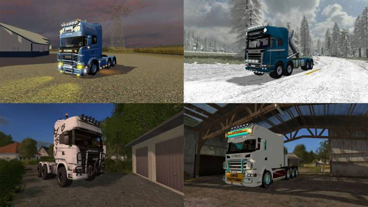 FS17 Pack V1 – Scania Trucks Pack v1 0 | Farming simulator