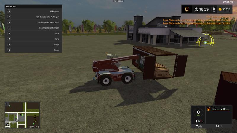 Farming Simulator 2019 Autoload bale Trailer zone