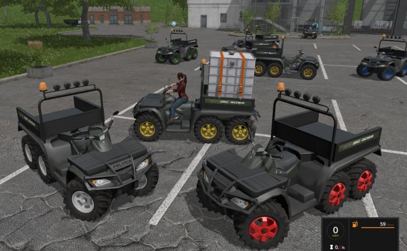 QUAD POLARIS 6X6 V1.1 | Farming simulator 2017 mods
