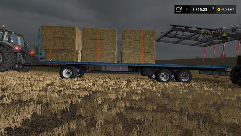 HOMEMADE BALES TRAILER V1 0 | Farming simulator 2017 / 2019 mods