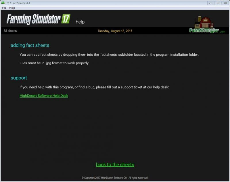 Free Fact Sheet Software For Windows Fs V  Farming Simulator