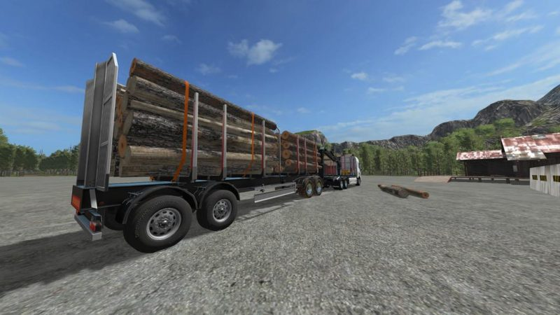 LOG TRAILER V1 0 0 0 | Farming simulator 2017 / 2019 mods
