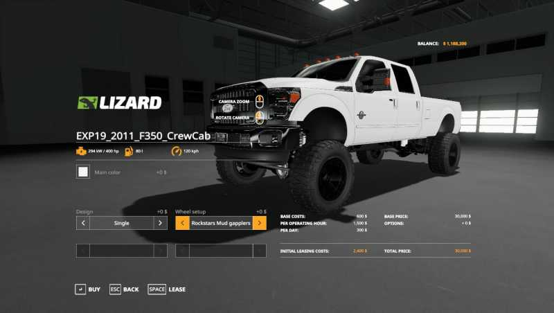 Used Ford F350 Dually Wheels >> 2011 FORD F350 V1.0.0.0 | Farming simulator 2017 / 2019 mods | Ls mods 17 / 19 | FS 17 / 19 mods